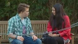 Callum Rebecchi, Rani Kapoor in Neighbours Episode 6536