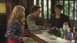 Georgia Brooks, Chris Pappas, Aidan Foster in Neighbours Episode 6539