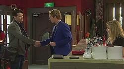 Nick Mulane, Andrew Robinson, Natasha Williams in Neighbours Episode 6544