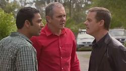 Ajay Kapoor, Karl Kennedy, Paul Robinson in Neighbours Episode 6548