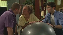 Toadie Rebecchi, Sonya Mitchell, Alex Delpy in Neighbours Episode 6550