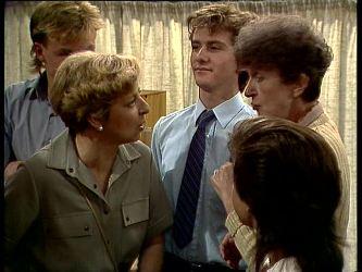 Scott Robinson, Eileen Clarke, Danny Ramsay, Nell Mangel in Neighbours Episode 0249