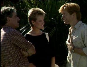 Jack Lassiter, Daphne Clarke, Clive Gibbons in Neighbours Episode 0253
