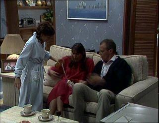 Lucy Robinson, Zoe Davis, Jim Robinson in Neighbours Episode 0254