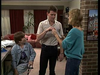 Bradley Townsend, Des Clarke, Andrea Townsend in Neighbours Episode 0261