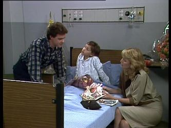 Paul Robinson, Lucy Robinson, Debra Fleming in Neighbours Episode 0263