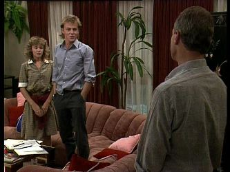 Charlene Mitchell, Scott Robinson, Jim Robinson in Neighbours Episode 0263
