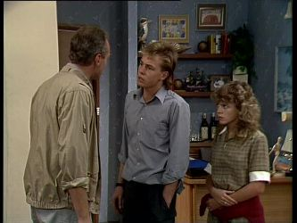 Jim Robinson, Scott Robinson, Charlene Mitchell in Neighbours Episode 0264