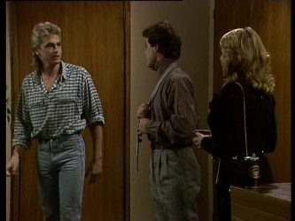 Shane Ramsay, Paul Robinson, Debra Fleming in Neighbours Episode 0264