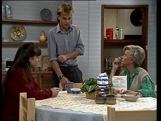 Nikki Dennison, Scott Robinson, Helen Daniels in Neighbours Episode 0267