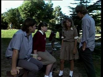 Mike Young, Nikki Dennison, Charlene Mitchell, Scott Robinson in Neighbours Episode 0268