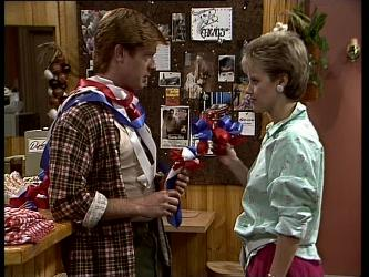 Clive Gibbons, Daphne Clarke in Neighbours Episode 0268