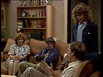 Madge Bishop, Tom Ramsay, Fred Mitchell, Charlene Mitchell in Neighbours Episode 0269