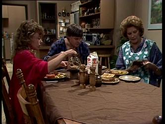 Charlene Mitchell, Tom Ramsay, Madge Bishop in Neighbours Episode 0269
