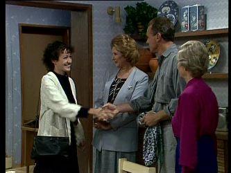 Jean Richards, Madge Bishop, Jim Robinson, Helen Daniels in Neighbours Episode 0272