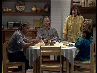 Scott Robinson, Jim Robinson, Nikki Dennison, Helen Daniels, Lucy Robinson in Neighbours Episode 0272