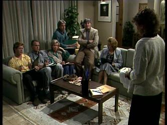 Clive Gibbons, Jim Robinson, Helen Daniels, Shane Ramsay, Tom Ramsay, Madge Bishop, Jean Richards in Neighbours Episode 0272