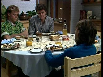 Scott Robinson, Paul Robinson, Lucy Robinson in Neighbours Episode 0275