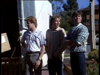 Clive Gibbons, Scott Robinson, Mike Young in Neighbours Episode 0276