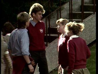 Scott Robinson, Roger, Nikki Dennison, Charlene Mitchell in Neighbours Episode 0277