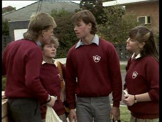 Scott Robinson, Charlene Mitchell, Mike Young, Nikki Dennison in Neighbours Episode 0278