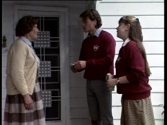 Mrs. York, Mike Young, Nikki Dennison in Neighbours Episode 0278