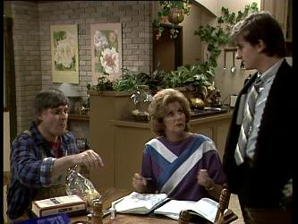 Tom Ramsay, Madge Bishop, Danny Ramsay in Neighbours Episode 0279