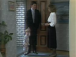 Jamie Clarke, Des Clarke, Beverly Marshall in Neighbours Episode 1114