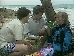 Matt Robinson, Nick Page, Sharon Davies in Neighbours Episode 1116