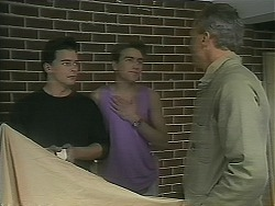 Matt Robinson, Nick Page, Jim Robinson in Neighbours Episode 1117