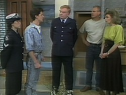 Adam Delaney, Police Officer, Jim Robinson, Beverly Robinson in Neighbours Episode 1117