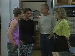 Nick Page, Matt Robinson, Jim Robinson, Beverly Marshall in Neighbours Episode 1118