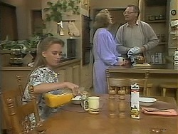 Bronwyn Davies, Madge Bishop, Harold Bishop in Neighbours Episode 1118