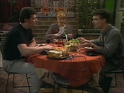 Des Clarke, Melanie Pearson, Paul Robinson in Neighbours Episode 1119