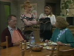Harold Bishop, Melanie Pearson, Bronwyn Davies, Madge Bishop in Neighbours Episode 1120