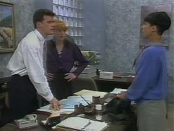 Paul Robinson, Melanie Pearson, Hilary Robinson in Neighbours Episode 1120