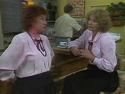 Gloria Lewis, Harold Bishop, Madge Bishop in Neighbours Episode 1120