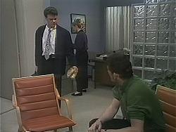 Paul Robinson, Melanie Pearson, Des Clarke in Neighbours Episode 1121