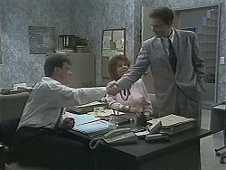 Paul Robinson, Gloria Lewis, Damien Griffin in Neighbours Episode 1122