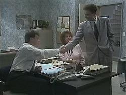 Paul Robinson, Gloria Lewis, Damien Griffin in Neighbours Episode 1122