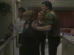 Paul Robinson, Melanie Pearson, Bronwyn Davies, Des Clarke in Neighbours Episode 1123