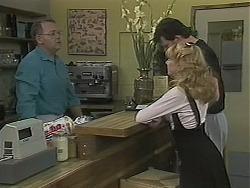 Harold Bishop, Des Clarke, Melanie Pearson in Neighbours Episode 1123