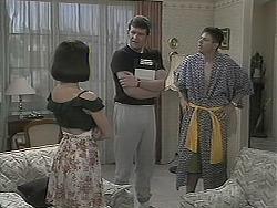 Kerry Bishop, Des Clarke, Joe Mangel in Neighbours Episode 1124