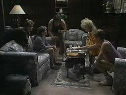 Bronwyn Davies, Lee Maloney, Matt Robinson, Sharon Davies, Nick Page in Neighbours Episode 1124