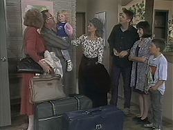 Madge Bishop, Harold Bishop, Sky Bishop, Bronwyn Davies, Joe Mangel, Kerry Bishop, Toby Mangel in Neighbours Episode 1124