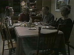Bronwyn Davies, Madge Bishop, Harold Bishop, Sharon Davies in Neighbours Episode 1126