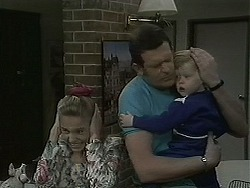 Bronwyn Davies, Des Clarke, Jamie Clarke in Neighbours Episode 1126