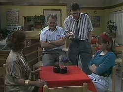 Gloria Lewis, Harold Bishop, Des Clarke, Lee Maloney in Neighbours Episode 1127