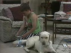 Toby Mangel, Bouncer in Neighbours Episode 1128