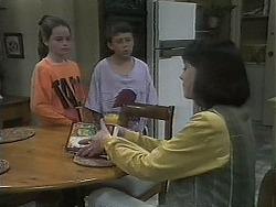 Lochy McLachlan, Toby Mangel, Kerry Bishop in Neighbours Episode 1129